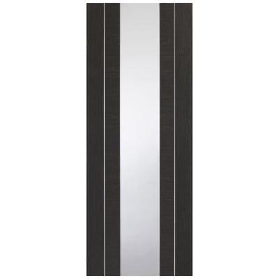 XL Joinery Internal Dark Grey Forli Prefinished 1L Clear Glazed Door