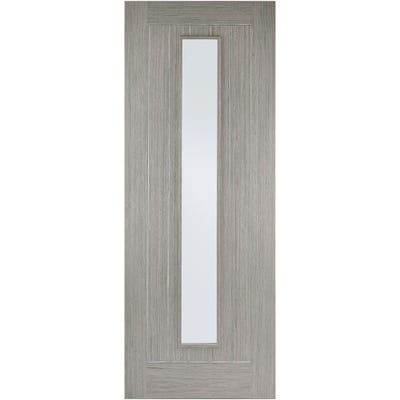 LPD Internal Light Grey Somerset Prefinished 1L Clear Glazed Door