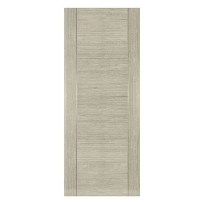 Deanta Internal Light Grey Ash Montreal 6 Panel Prefinished Door