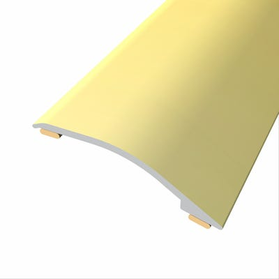 Laminate Stickdown Threshold Adjustable Ramp 3-12mm Gold Aluminium 2.7m