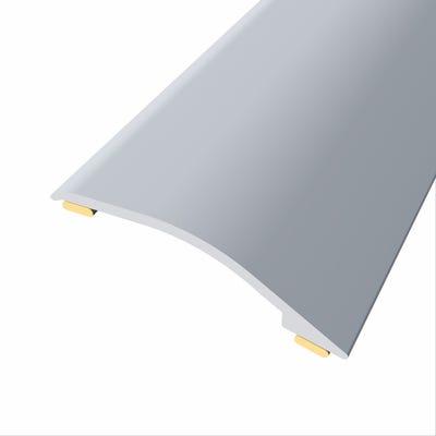 Laminate Stickdown Threshold Adjustable Ramp 3-12mm Silver Aluminium 2.7m