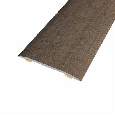 Laminate Stickdown Threshold Coverstrip Dark Walnut 0.9m