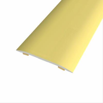 Laminate Stickdown Threshold Coverstrip Gold Aluminium 2.7m