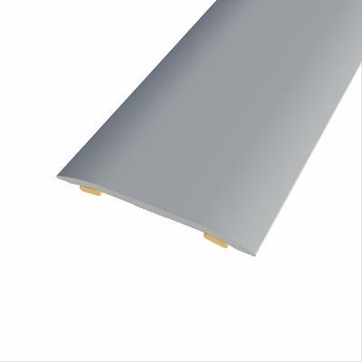 Laminate Stickdown Threshold Coverstrip Silver Aluminium 2.7m