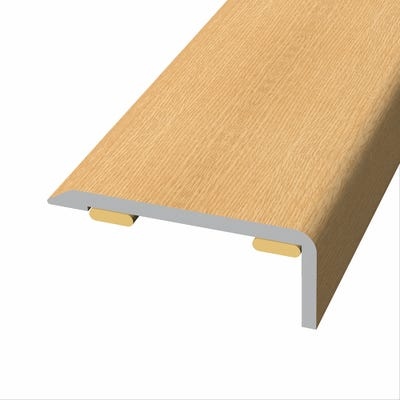 Laminate Stickdown Threshold End Section Albany Oak 2.7m