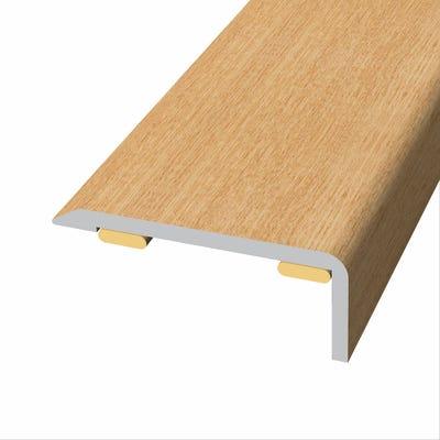 Laminate Stickdown Threshold End Section Light Varnished Oak 2.7m