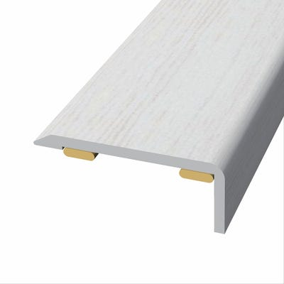 Laminate Stickdown Threshold End Section Chantilly Oak 2.7m