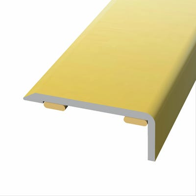 Laminate Stickdown Threshold End Section Gold Aluminium 2.7m