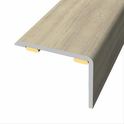 Laminate Stickdown Threshold Stair Nosing Sherwood Oak 2.7m