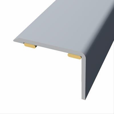 Laminte Stickdown Threshold Stair Nosing Silver Aluminium 2.7m