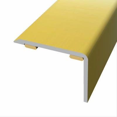 Laminate Stickdown Threshold Stair Nosing Gold Aluminium 2.7m