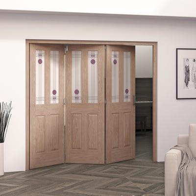 Jeld-Wen Internal Oak Mackintosh 2L 3 Door Roomfold 2047 x 2157 x 92mm