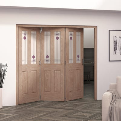 Jeld-Wen Internal Oak Mackintosh 2L 3 Door Roomfold 2047 x 2157 x 92mm