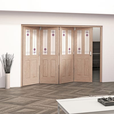 Jeld-Wen Internal Oak Mackintosh 2L 4 Door Roomfold 2047 x 2849 x 92mm
