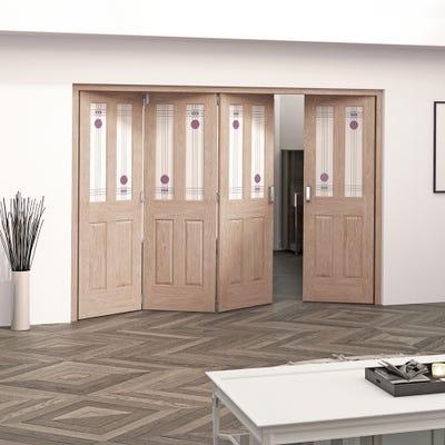 Jeld-Wen Internal Oak Mackintosh 2L 4 Door (3+1) Roomfold 2047 x 2849 x 92mm