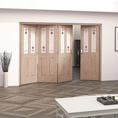 Jeld-Wen Internal Oak Mackintosh 2L 4 Door (3+1) Roomfold 2047 x 2849 x 92mm