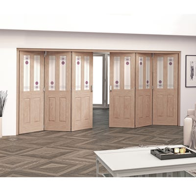 Jeld-Wen Internal Oak Mackintosh 2L 6 Door (3+3) Roomfold 2047 x 4227 x 92mm