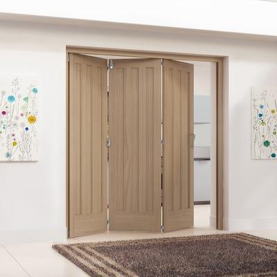 Jeld-Wen Internal Oak Aston 3 Panel 3 Door Roomfold