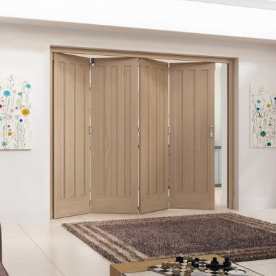 Jeld-Wen Internal Oak Aston 3 Panel 4 Door Roomfold