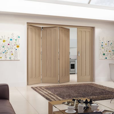 Jeld-Wen Internal Oak Aston 3 Panel 4 Door (3+1) Roomfold