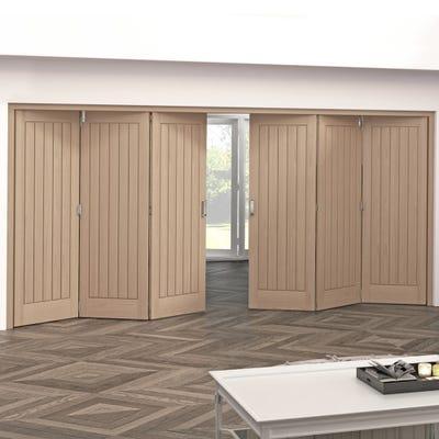 Jeld-Wen Internal Oak Oregon Cottage 5 Panel 6 Door (3+3) Roomfold