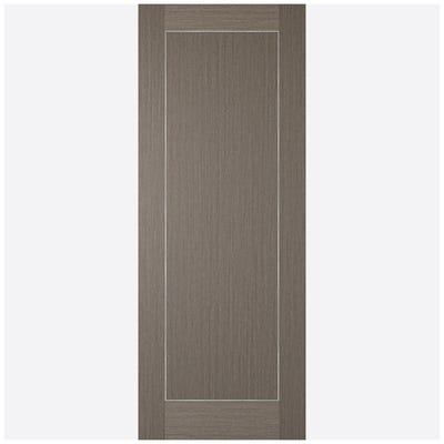 LPD Internal Chocolate Grey Inlay Prefinished 1 Panel Door