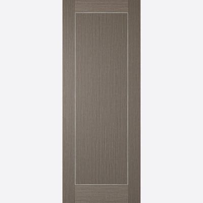 LPD Internal Chocolate Grey Inlay Prefinished 1 Panel FD30 Fire Door