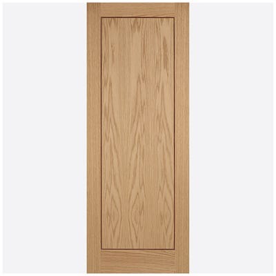 LPD Internal Oak Inlay Prefinished 1 Panel FD30 Fire Door