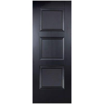 LPD Internal Black Amsterdam 3 Panel Door