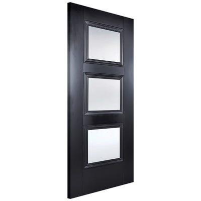 LPD Internal Black Amsterdam 3L Clear Glazed Door