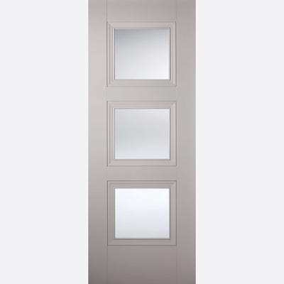 LPD Internal Grey Amsterdam 3L Clear Glazed Door