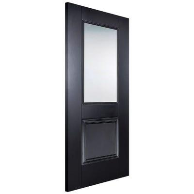 LPD Internal Black Arnhem 1L Clear Glazed Door