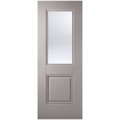 LPD Internal Grey Arnhem 1L Clear Glazed Door