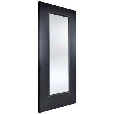 LPD Internal Black Eindhoven 1L Clear Glazed Door
