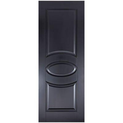 LPD Internal Black Versailles 2 Panel Door