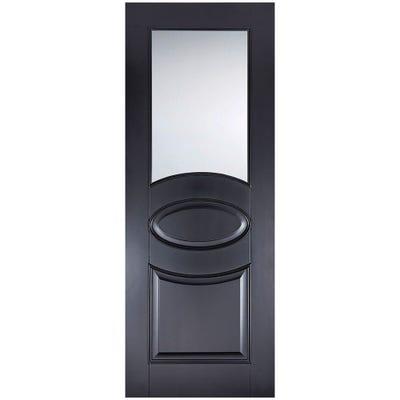 LPD Internal Black Versailles 1L Clear Glazed Door