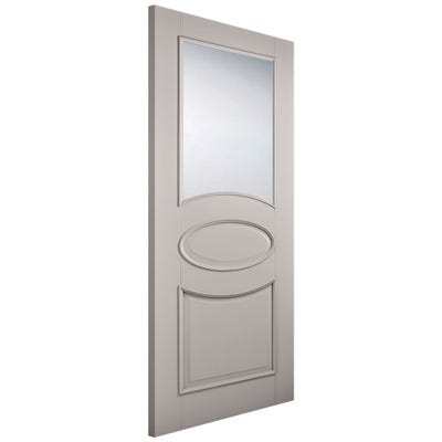 LPD Internal Grey Versailles 1L Clear Glazed Door