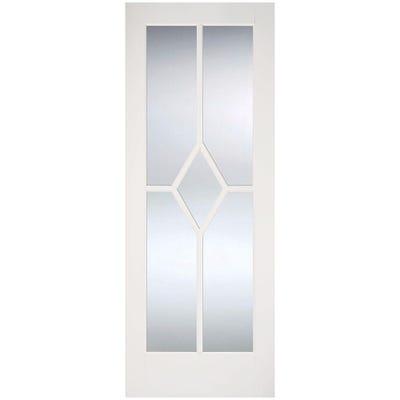 LPD Internal White Primed Reims 5L Clear Glazed Door