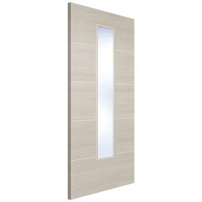 LPD Internal Ivory Laminate Santandor Prefinished 1L Clear Glazed Door
