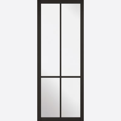 LPD Internal Black Liberty 4L Clear Glazed Door