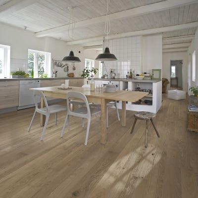 Kahrs 15 x 187mm Oak Sand Brighton Matt Lacquered Click Engineered Wood Flooring