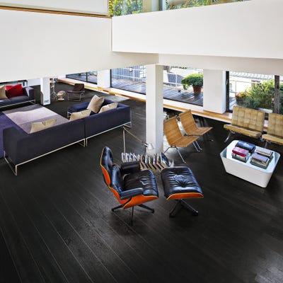 Kahrs 15 x 200mm Oak Nouveau Charcoal Matt Lacquered Click Engineered Wood Flooring