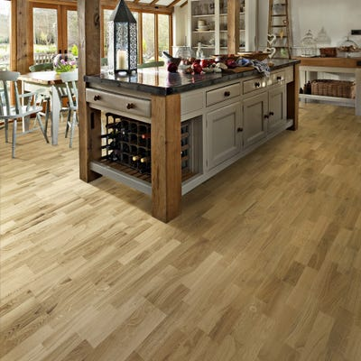 Kahrs 15 x 200mm Oak Siena Satin Lacquered Click Engineered Wood Flooring