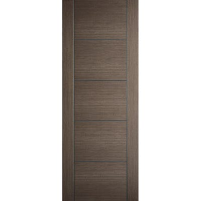 LPD Internal Chocolate Grey Vancouver 5 Panel Prefinished Door