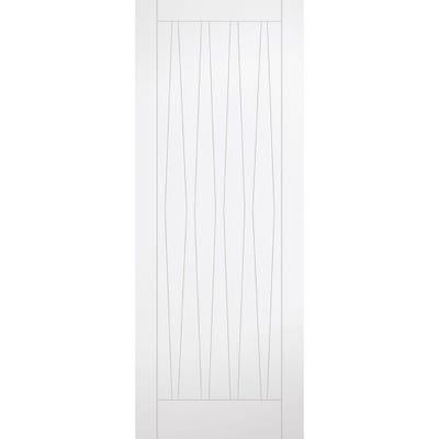 LPD Internal White Primed Costa Rica 9 Panel FD30 Fire Door