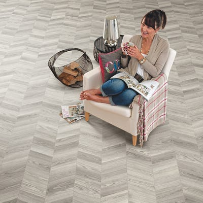 Elka 8mm Skye Oak ELV284 Herringbone Laminate Flooring