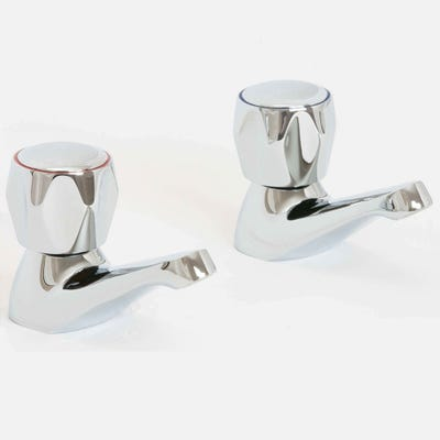 Alliance H2O Skala Basin Pillar Taps Chrome