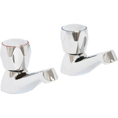 Alliance Skara Contract Bath Pillar Taps Chrome