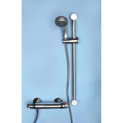 Alliance Lewis Thermostatic Bar Shower Mixer Kit Chrome