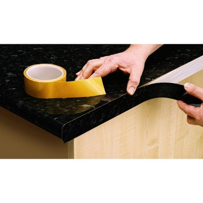 Unika 40mm x 5000mm Double Sided Worktop Tape For Laminate Edge Strip